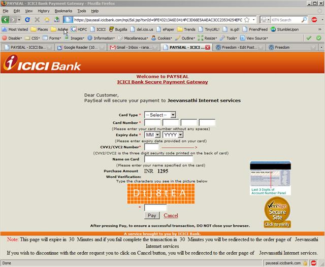 ICICI payment Gateway